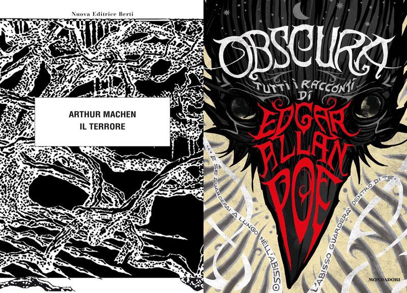 Le copertine de Il Terrore e Obscura. Tutti i racconti
